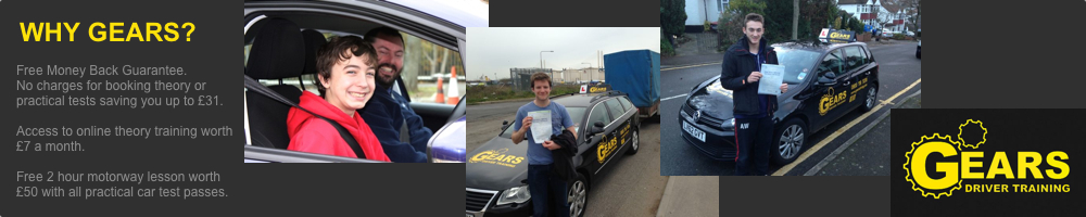 Gears Driver Training offering driving lessons, Young Driver Challenge and trailer training to Bromley and Kent